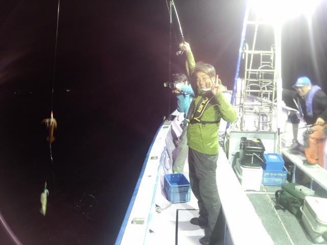 4月25日釣果タイ、イカ
